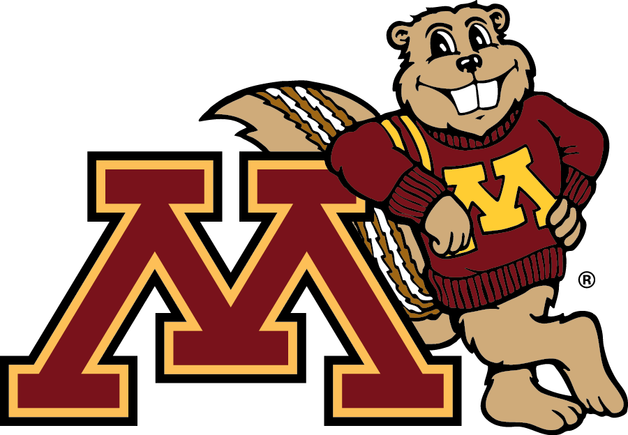 Goldy Gopher with block M