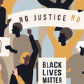 Illustration of Black Live Matter protesters