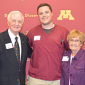 From left to right: Gerald Ramsdell, Zach Bradley, and Joanne Ramsdell at Scholarship Reception in 2019